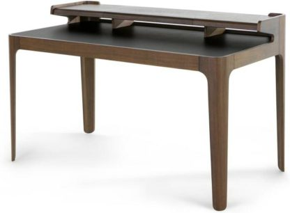 An Image of Zeke Desk, Walnut and Black