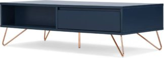 An Image of Elona Coffee Table, Dark Blue & Copper