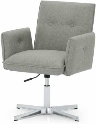 An Image of Denham Office Chair, Mountain Grey & Chrome