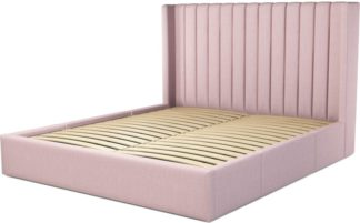 An Image of Custom MADE Cory Super King size Bed with Drawers, Tea Rose Pink Cotton