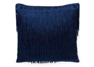 An Image of One Nine Eight Five Tassel Cushion Midnight Blue
