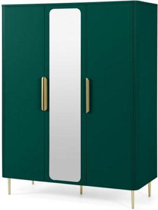 An Image of Ebro Triple Wardrobe, Peacock Green