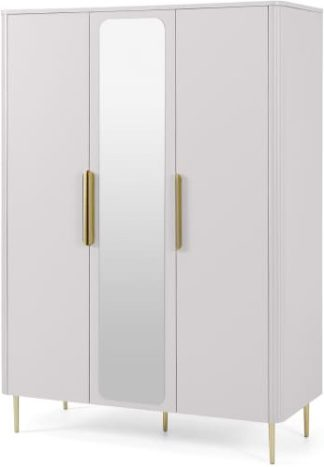 An Image of Ebro Triple Wardrobe, Grey