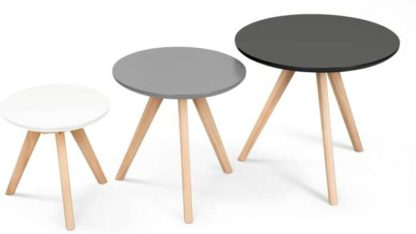An Image of Set of 3 Orion Side Tables, Grey