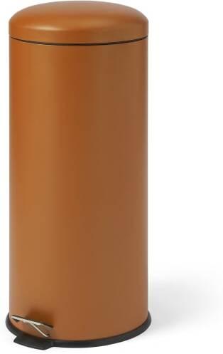An Image of Joss Domed Pedal Bin, 30L, Rust