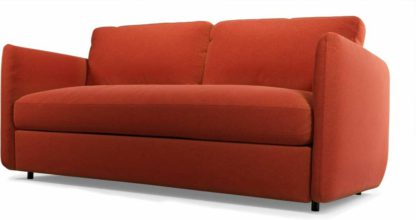 An Image of Fletcher 3 Seater Sofabed with Memory Foam Mattress, Retro Orange