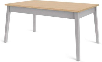 An Image of Custom MADE Harrison Shaker 6 Seat Dining Table, Oak and Grey
