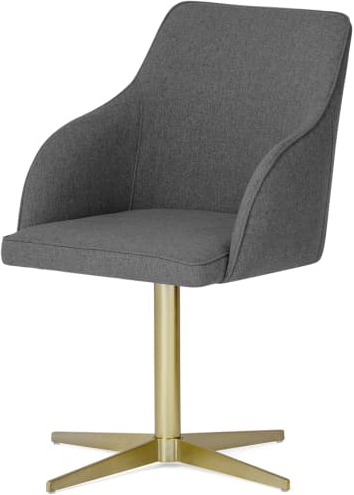 An Image of Keira Office Chair, Marl Grey & Brass