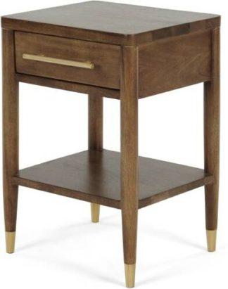 An Image of Hix Bedside Table, Mango & Brass