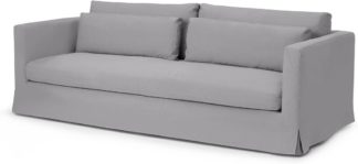 An Image of Arabelo 3 Seater Loose Cover Sofa, Mineral Cotton & Linen Mix