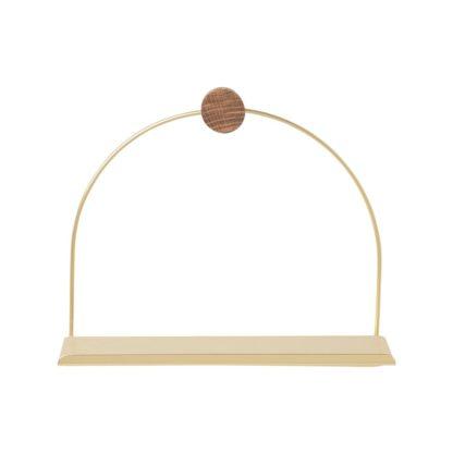 An Image of ferm LIVING Bathroom Shelf Brass