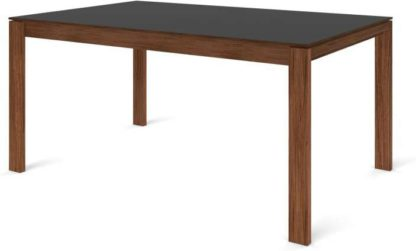 An Image of Custom MADE Corinna 6 Seat Dining Table, Grey HPL and Walnut