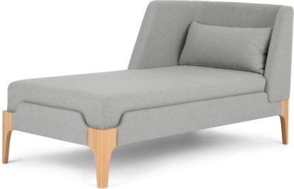 An Image of Roscoe Left Hand Facing Chaise Longue, Cool Grey with Light Leg