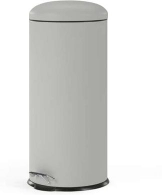 An Image of Joss 30L Domed Pedal Bin, Cool Grey