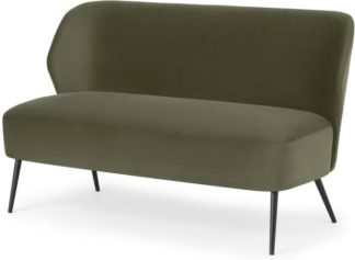 An Image of Topeka 2 Seater Sofa, Sycamore Green Velvet