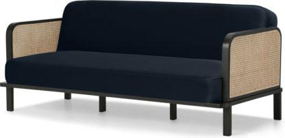 An Image of Toriko Click Clack Sofa Bed, Twilight Blue Velvet