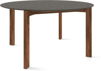 An Image of Custom MADE Niven 6 Seat Round Dining Table, Concrete and Walnut