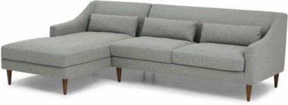 An Image of Herton Left Hand Facing Chaise End Sofa, Mountain Grey