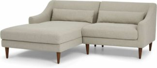 An Image of Herton Left Hand Facing Small Chaise End Sofa, Barley Weave