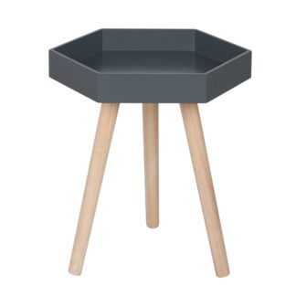 An Image of Grey Hexagon Side Table