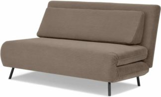 An Image of Kahlo Large Sofa Bed, Taupe Corduroy Velvet