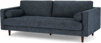 An Image of Scott 3 Seater Sofa, Cuba Blue Weave
