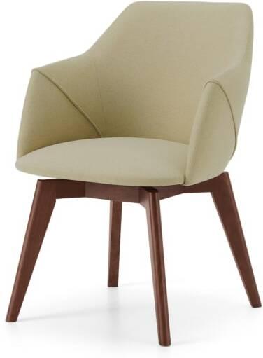An Image of Lule Office Chair, Ecru & Walnut