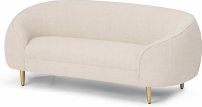 An Image of Trudy 2 Seater Sofa, Oatmeal Loop Textured Fabric