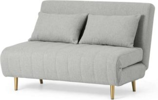 An Image of Bessie Small Sofa Bed, Luna Grey Weave