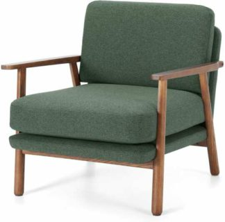An Image of Lars Accent Armchair, Darby Green and Walnut Stain