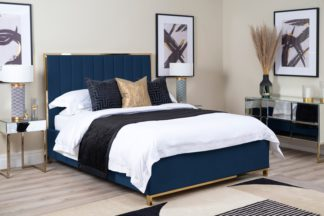 An Image of Hudson Bed Royal Blue