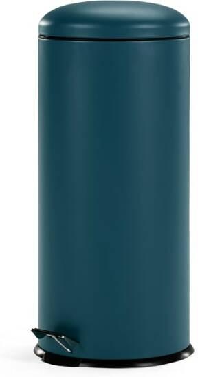 An Image of Joss 30L Domed Pedal Bin, Blue