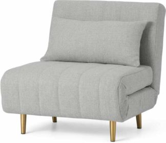 An Image of Bessie Single Sofa Bed, Luna Grey Weave
