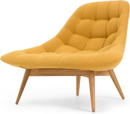 An Image of Kolton Accent Armchair, Yolk Yellow