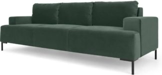 An Image of Frederik 3 Seater Sofa, Autumn Green Velvet