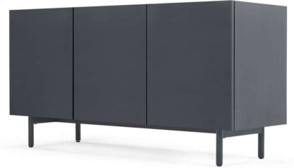 An Image of Mino Sideboard, Dark Grey & Oak