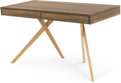 An Image of Darcey Desk, Walnut and Oak