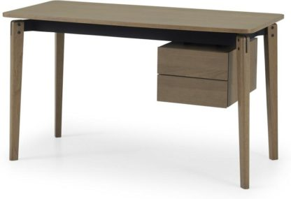 An Image of Mellor Desk, Dark Stained Oak & Textured Charcoal