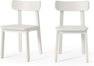 An Image of Asuna Set of 2 Dining Chairs, Ivory White