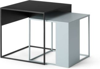 An Image of Emira Nesting Side Tables, Tonal Grey