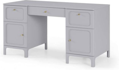 An Image of Bromley Wide Desk, Grey & Mint