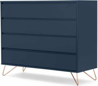 An Image of Elona Chest of Drawers, Dark Blue and Copper