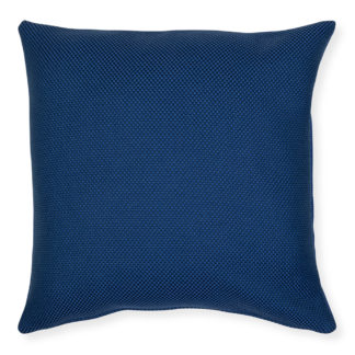 An Image of Heal's Greenwich Recycled Outdoor Cushion Blue 45 x 45cm