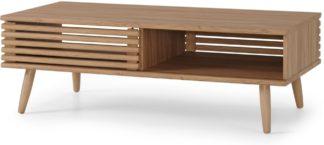 An Image of Tulma Storage Coffee Table, Oak Effect