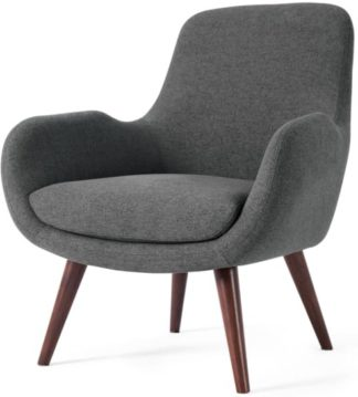 An Image of Moby Accent Armchair, Marl Grey