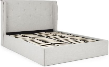 An Image of Ormond King Size Ottoman Storage Bed, Chic Grey
