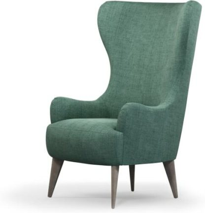 An Image of Bodil Accent Armchair, Duck Egg Blue with Light Wood Leg