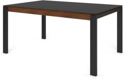 An Image of Custom MADE Corinna 6 Seat Dining Table, Grey HPL and Black