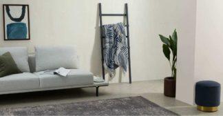 An Image of Larkin Cotton Throw, 125 x 170cm, Dark Blue