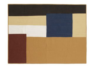 An Image of ferm LIVING Shay Patchwork Quilt Mustard 130 x 180cm